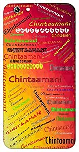 Chintaamani (A Gem) Name & Sign Printed All over customize & Personalized!! Protective back cover for your Smart Phone : Moto G-4