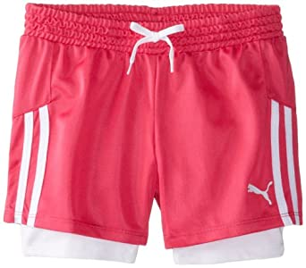 Click here to buy PUMA Girls 7-16 Soccer Short With Taping by PUMA.