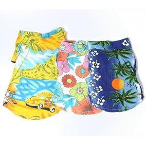 Urparcel Dog Cat T Shirt Pet Clothing Shirt Puppy Clothes Summer Apparel Beachwear Outfit