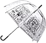 Lulu Guinness by Fulton LG Birdcage Women's Umbrella Street Scene One Size