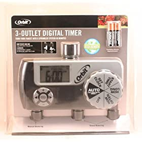 Orbit 3-outlet Digital Watering/Sprinkling Timer Set