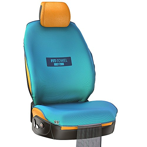 Fit-Towel Car Seat Towel Cover. Athletic Sweat Shield, With Cool, Quick-Dry, Skidless Technology, for Carseat Protection after Working Out (Turquoise) (Baja Tire Cover compare prices)