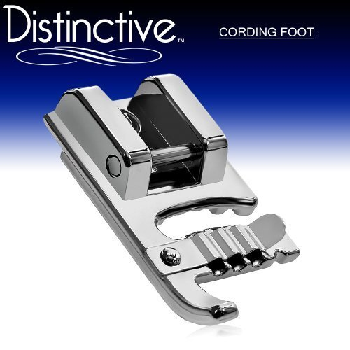 Distinctive Distinctive Cording Sewing Machine Presser Foot Fits All Low Shank Snap On Singer*, Brother, Babylock, Euro Pro, Janome, Kenmore, White, Juki, New Home, Simplicity, Elna and More