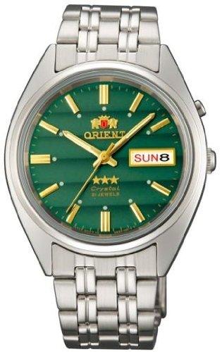 Orient #FEM0401PF Men's Tri Star Green Dial Standard Self Winding Automatic Watch