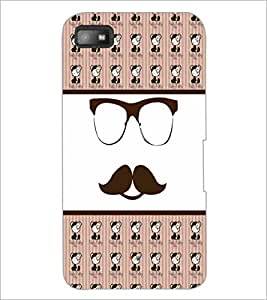 PrintDhaba Mustache D-4780 Back Case Cover for BLACKBERRY Z10 (Multi-Coloured)