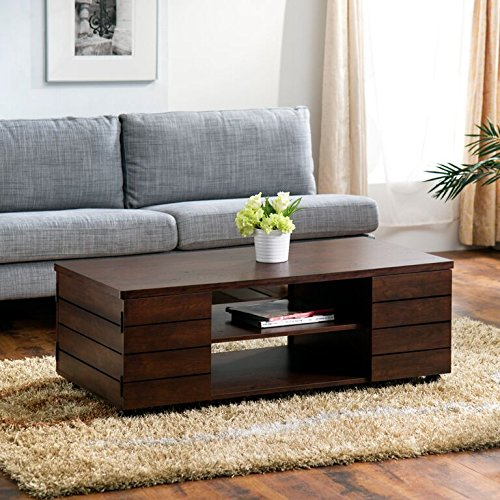 Bron Transitional Coffee Table, Vintage Walnut