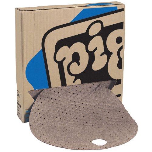 new-pig-mat544-polypropylene-oil-only-barrel-top-absorbent-mat-35-gallon-absorbency-22-diameter-brow