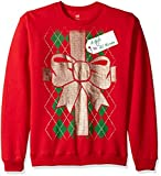 Hanes Mens Ugly Christmas Sweatshirt, Barbados Red Gift to Women, S