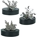 Build your Own Magnetic Sculpture Assorted Metal Shapes Desktop Gadget Gift Toy