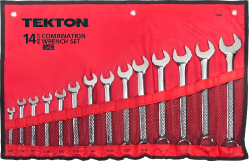 TEKTON 1942 Combination Wrench Set, SAE, 14-Piece