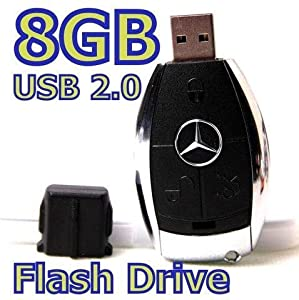 8GB Mercedes Benz Key Type 2.0 USB Flash Memory Stick Drive Card Pen by T&J