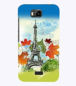 PrintVisa Travel Paris 3D Hard Polycarbonate Designer Back Case Cover for Huawei Honor Bee