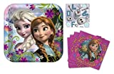 Disney's Frozen Party Pack Includes 9 Square Lunch/dinner Plates (1) Set of 8 and Disney Frozen - Lunch Napkins (1) Set of 16 and (1) Set of 8 Myo Olaf Stickers