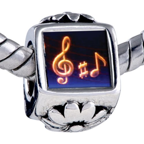 Pugster Bead Music Note Photo Beads Fits Pandora Bracelet
