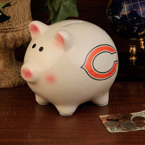 NFL Chicago Bears Team Ceramic Piggy Bank - 1