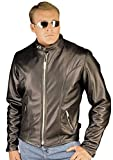 Reed® Men's Tall Leather Motorcycle Jacket Union Made in USA by NYC Leather Factory Outlet