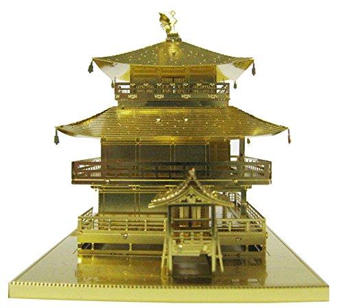 New metallic nano 3d puzzle gold series kinkakuji japan temple model kit f s ebay for Garden pavilion crossword clue