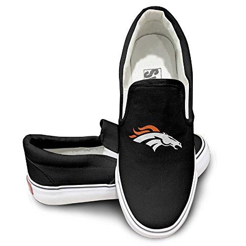 CYANY Super Bowl 50th Champion Denver Pony Broncos Unisex Footwall Canvas Shoes Sun Black