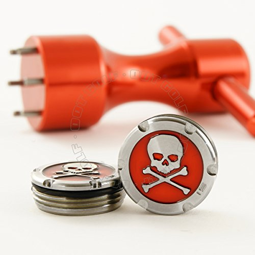2 of 15g Deluxe Tour Style Weights for Scotty Cameron Putters + Wrench, Skull, Red (Red)