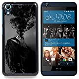 img - for Stuss Case / Hard Protective Case Cover - Ink Possessed Girl Demon Black White - HTC Desire 626 book / textbook / text book