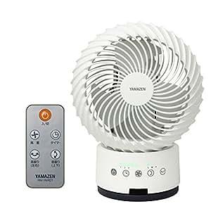 山善(YAMAZEN) (DCモーター搭載)18cm立体首振りサーキュレーター(静音モード搭載)(リモコン)(風量4段階) タッチスイッチ式 タイマー付 ホワイト YAR-XD18(W)