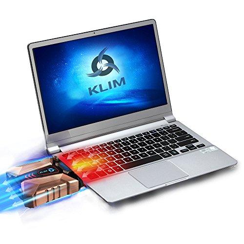 KLIM Cool + sistema di raffreddamento laptop in metallo - il più potente - Air vacuum USB per raffreddamento immediato - cooling pad contro il surriscaldamento