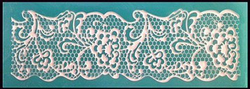 Allforhome Sugarcraft Silicone Littile Flower Embossing Lace Fondant Mould Cake Decoration Mould Polymer Clay Resin Molds Mat