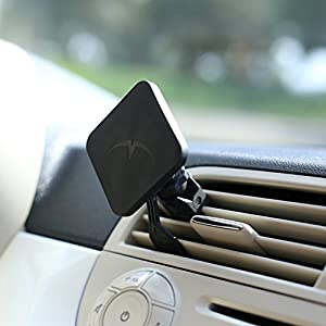 Mountek AIRSNAP Air Vent Car Mount for Cell Phones, Smartphones, Phablets and Mini Tablets- Frustration-Free Packaging - Black