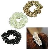 Binmer(TM)Women Hair Pearl Headwear Hairbands Hair Ties 3pcs/Lot