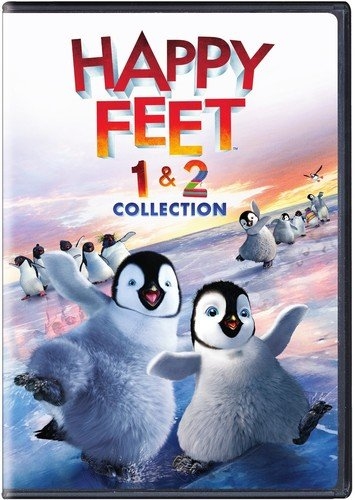 DVD : Happy Feet 1 & 2 Collection (2 Pack, Eco Amaray Case, 2 Disc)