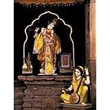 "Dolls Of India ""Krishna And Meerabai In The Meerabai Temple , Chittorgarh, Rajasthan"" Photographic Print - Unframed..."