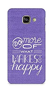 AMEZ do more of what makes you happy Back Cover For Samsung Galaxy A3 (2016 EDITION)