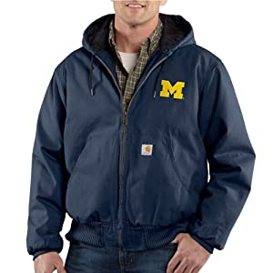 NCAA Michigan Wolverines Mens Ripstop Active Jacket by Carhartt