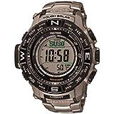 CASIO PRW-3500T-7ER Funkuhr PRO TREK Solar Uhr Herrenuhr Titan Resin 200m Digital Datum Alarm Timer schwarz