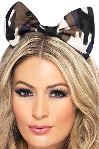 Fever Women's Army Bow On Headband On Display Card, Multi, One Size