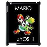 Ipad 2/3/4 Yoshi Case Super Mario World Yoshi Hard Cases Covers Green Black Colorful For Apple iPad 2 3 4