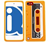 ITALKonline SoftSkin CASSETTE TAPE RETRO ORANGE Super Hydro Silicone Protective Armour/Case/Skin/Cover/Shell for Apple iPod Touch 5 5G (5th Generation) 8GB, 32GB, 64GB