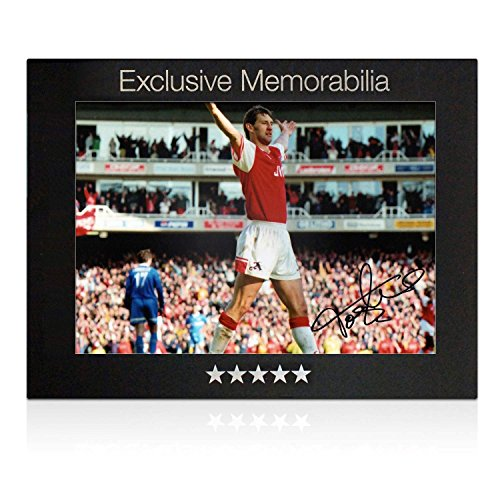 Tony Adams Signed Arsenal Photo: Goal Against Everton. In Gift Box