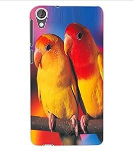 ColourCraft Love Birds Design Back Case Cover for HTC DESIRE 820