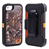 Huaxia Datacom Body Armor Defender Shockproof Dirtproof Hybrid Hard Impact Case with Holster and Belt Clip for iPhone 5 (not for iPhone 5C/5S) – Camouflage Branch on Orange Reviews