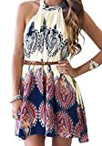 LookbookStore Women's Summer Vintage Baroque Printed Shift Dress