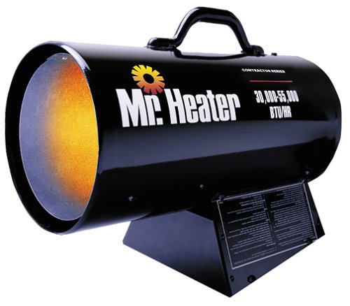 Mr Heater Portable Propane Forced Air Heater - 30000-55000 BTU Model MH55FAVB0000C6E3K