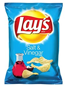 Lay's Potato Chips, Salt and Vinegar, 9.5 Ounce (Pack of 4)