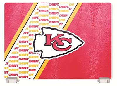 NFL Kansas City Chiefs Glass Cutting Board