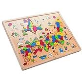 木箱日本地図パズル