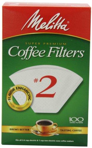 Melitta 622710 #2 Cone PA2-100 Filter Paper, Green