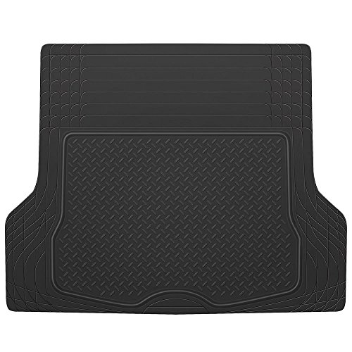 BDK MT-785-BK_AMHD Black HeavyDuty Rubber Cargo Trunk Floor Mat (2007 Toyota Yaris Trunk Liner compare prices)