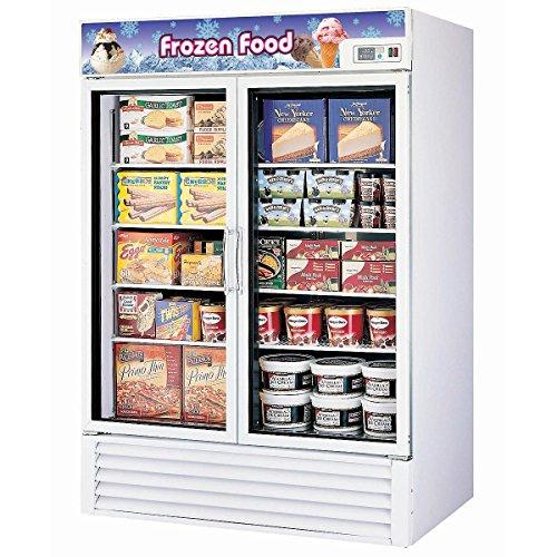 Turbo Air Tgf-49F Glass Door Merchandiser Reach-In Freezer 2 Swing Door 54-3/8 Wide 49 Cubic Feet With 4 Casters front-606051