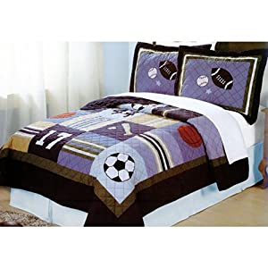 All State Quilt with Pillow Sham Size: Full / Queen