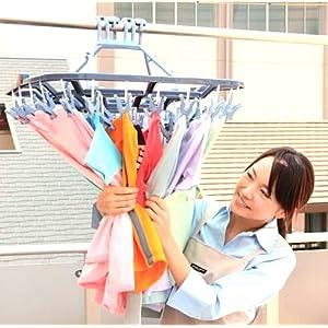 引っぱリンガー - 引っ張るだけで簡単に洗濯物が取り込めるアイデア物干し